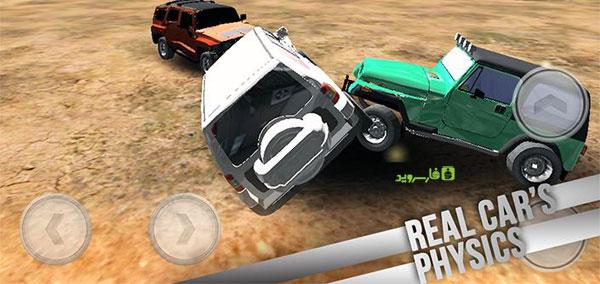 دانلود 4x4 Car Crash Derby - بازی دربی تصادف ماشین اندروید + دیتا