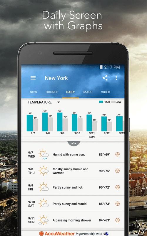 AccuWeather Platinum Android اندروید - برنامه