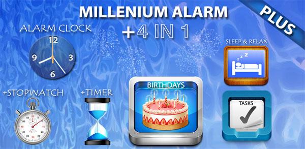دانلود Alarm Plus Millenium - ساعت زنگدار پیشرفته اندروید!