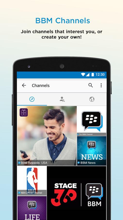 Blackberry Messenger Android برنامه اندروید