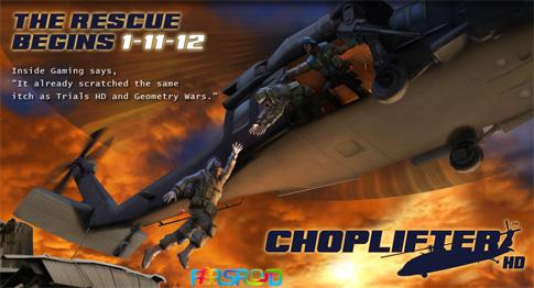 دانلود Choplifter HD - بازی هیلیکوپتر جنگی اندروید + دیتا
