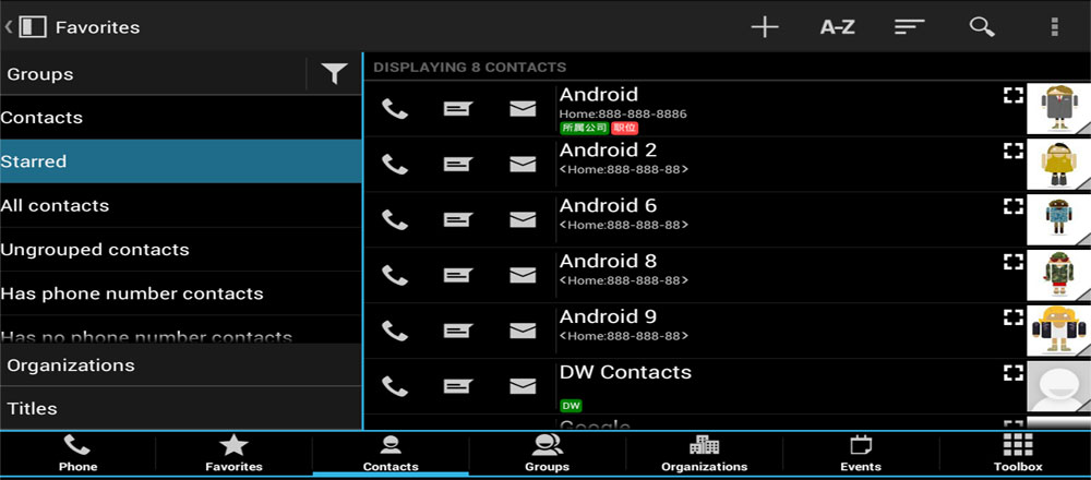 دانلود DW Contacts & Phone & Dialer - برنامه مدیریت مخاطبین بی نظیر اندروید