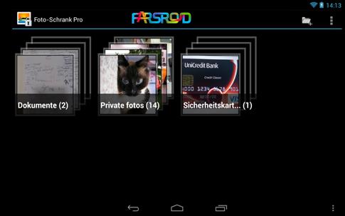 دانلود Foto-Schrank Pro - برنامه رمزگذاری تصاویر اندروید