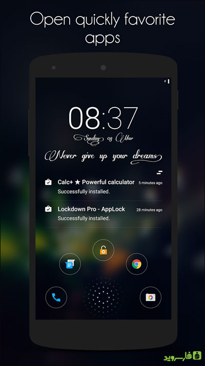 Hi Locker 5 دانلود Hi Locker – Your Lock Screen 1.8.6 – قفل صفحه شیک آندروید!