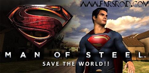 دانلود Man of Steel 1.05 - بازی اکشن سوپر من اندروید + دیتا