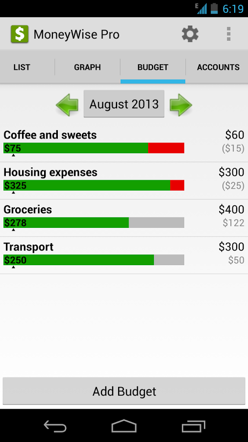 MoneyWise Pro Android نرم افزار اندروید