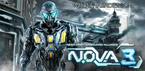 دانلود بازی دشمنان فضایی N.O.V.A. 3 اندروید + گیم دیتا