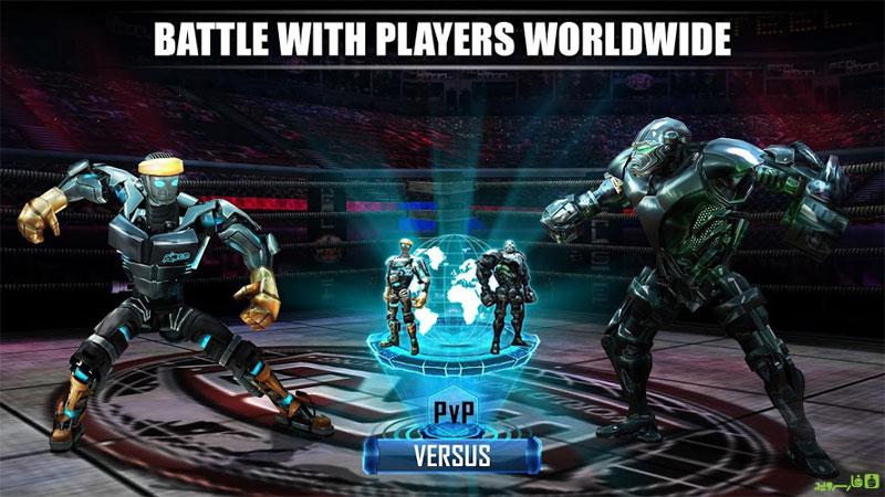 دانلود Real Steel World Robot Boxing 51.51.122 – مسابقه بوکس ربات ها اندروید + مود + دیتا