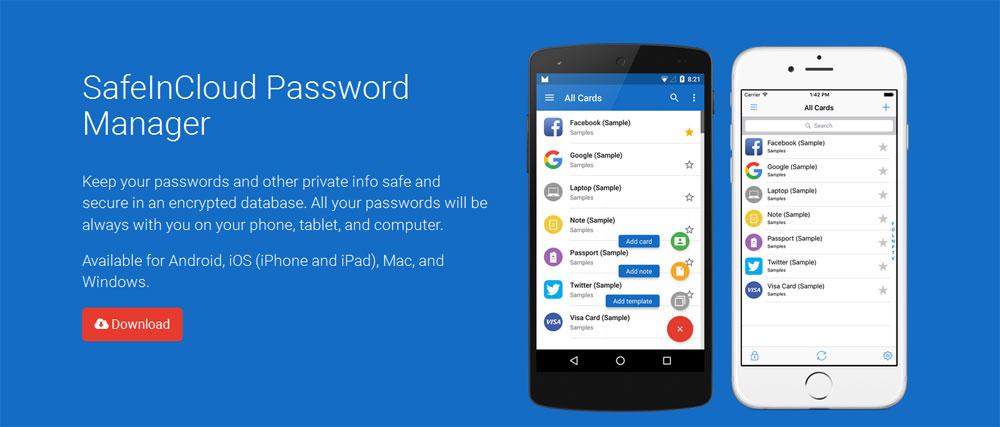دانلود SafeInCloud Password Manager 16.2.6 برنامه ذخیره رمزهای عبور برای اندروید
