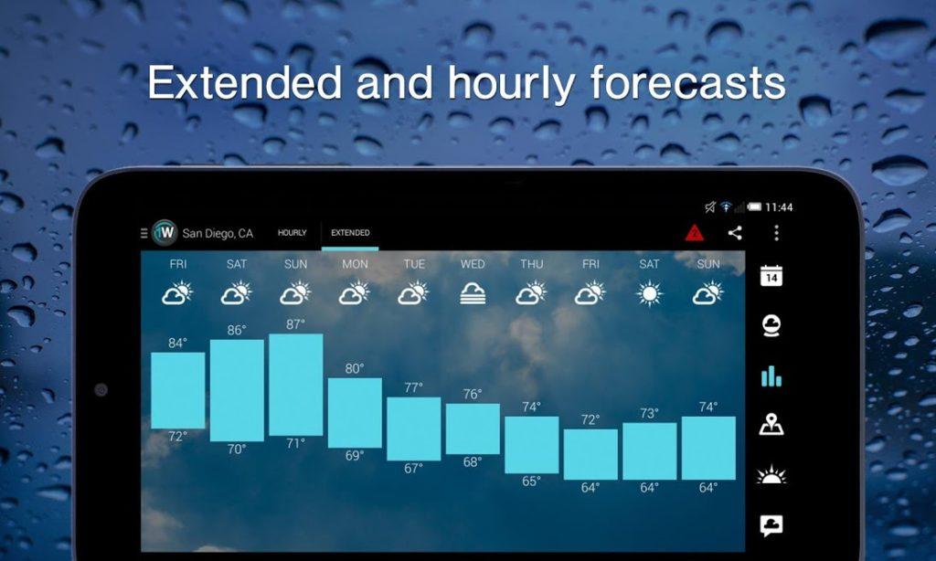 دانلود 1Weather:Widget Forecast Radar Pro 4.4.1.0 - برنامه هواشناسی کامل و قدرتمند وان ودر اندروید!