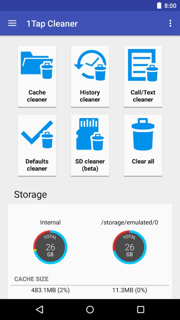 دانلود 1Tap Cleaner Pro 3.66 - نرم افزار پاکسازی کش اندروید + مود