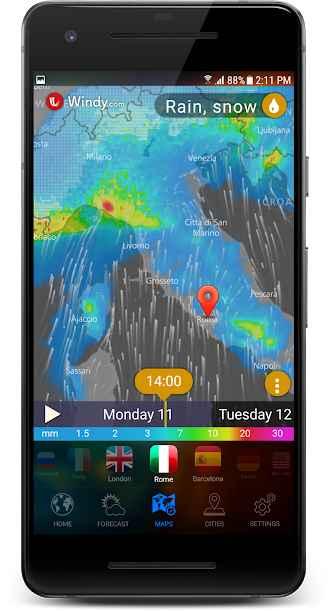 دانلود 3D Earth Pro - Weather Forecast, Radar & Alerts UK 1.1.7 - برنامه هواشناسی سه بعدی مخصوص اندروید !