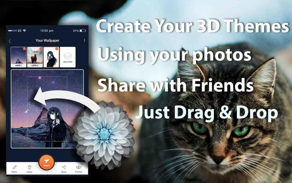 دانلود 3D Wallpaper Parallax 2019 Pro 6.0.324 - برنامه ایجاد والپیپر سه بعدی اندروید !