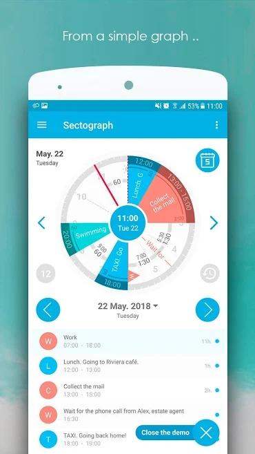 دانلود S.Graph: Calendar clock widget Pro 5.12 - اپلیکیشن گرافیکی برنامه ریزی روزانه اندروید