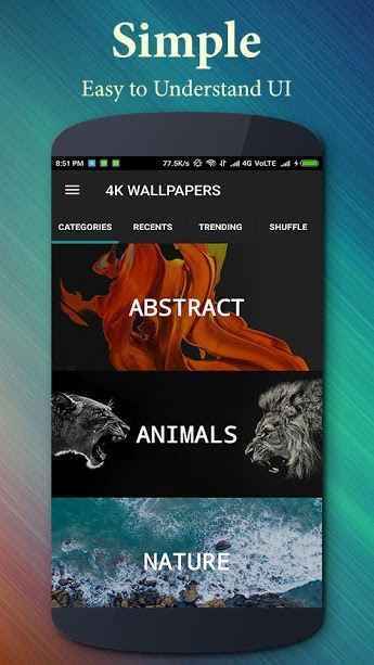 دانلود 4K Wallpapers and Ultra HD Backgrounds 2.6.3.2 - کالکشن بزرگ تصاویر زمینه با کیفیت اندروید