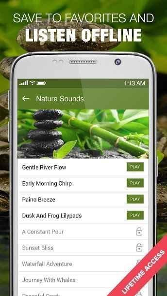 دانلود A 1000 Nature Sleep Relax Sounds Premium 1.4.6 - کالکشن قدرتمند صدا ها آرام بخش اندروید !
