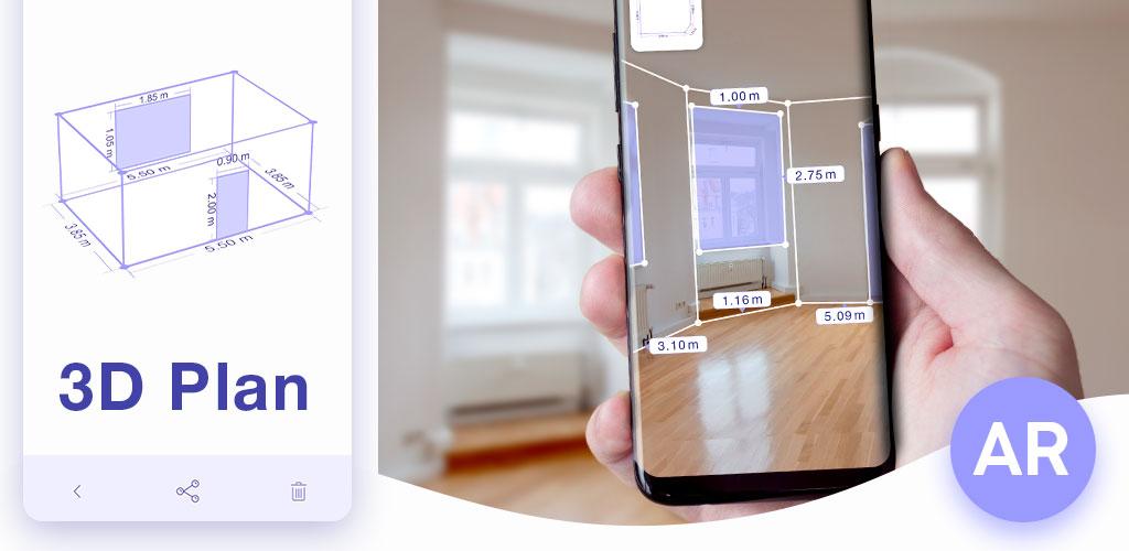 AR Plan 3D Ruler – Camera to Plan, Floorplanner