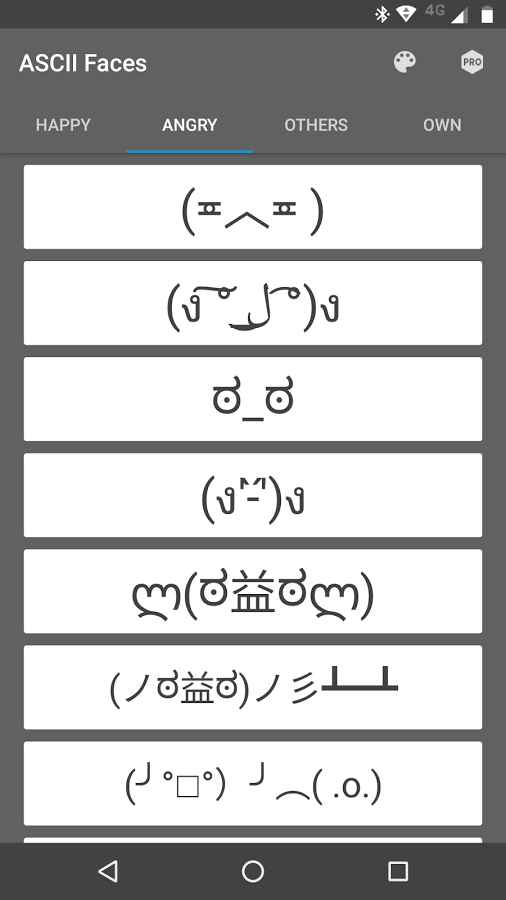 دانلود ASCII Faces Pro 4.0.3 - اپلیکیشن مجموعه شکلک ها اسکی اندروید + مود