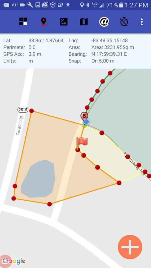دانلود Acres GPS Area Measurement 1.51 - برنامه اندازه گیری مبتنی بر جی پی اس اندروید