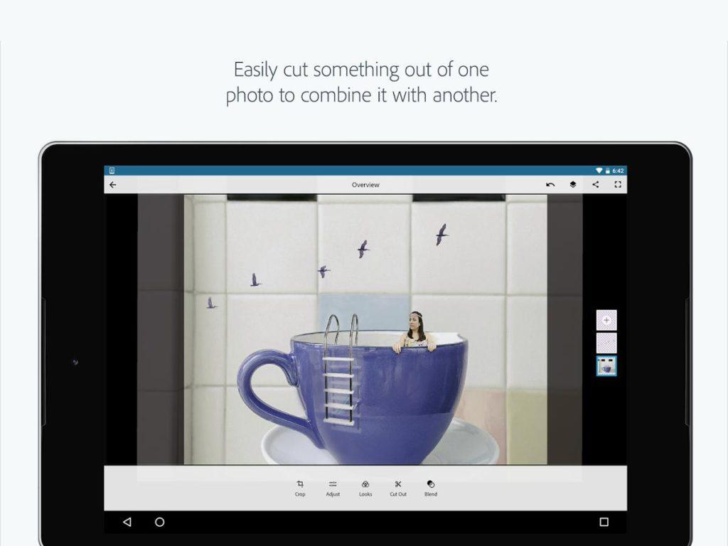 دانلود Adobe Photoshop Mix 2.6.2.393 - برنامه ادوب فتوشاپ میکس اندروید