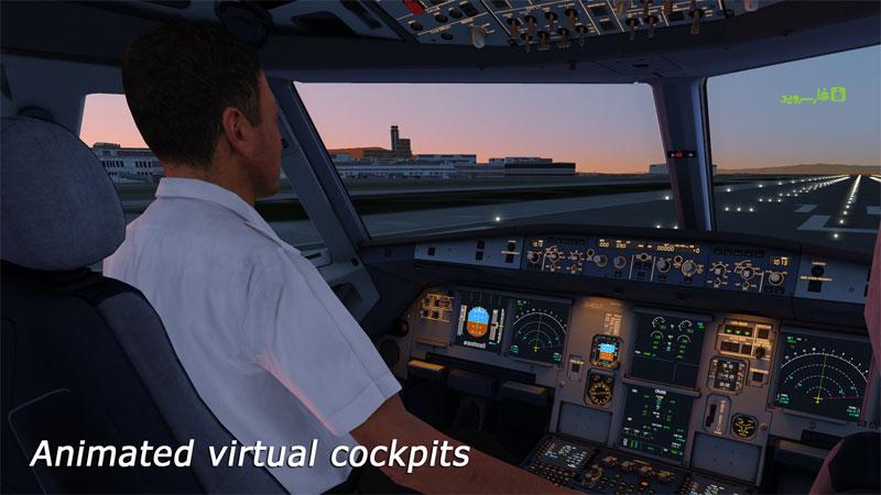 دانلود Aerofly 2 Flight Simulator 2.3.19 - گرافیکی ترین و واقعی ترین بازی شبیه ساز پرواز اندروید + دیتا