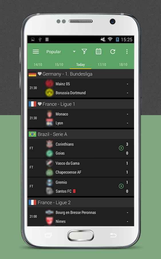 دانلود All Goals - Football Live Scores 5.4.1 - برنامه نتایج زنده مسابقات فوتبال اندروید