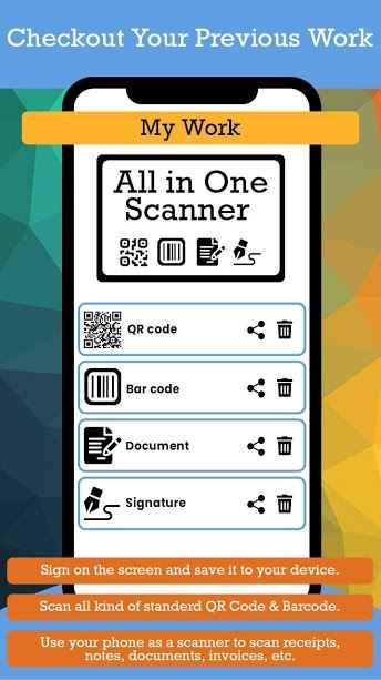 دانلود All in One Scanner : QR Code, Barcode, Document PRO 1.13 - اسکنر چند منظوره و هوشمند اندروید!