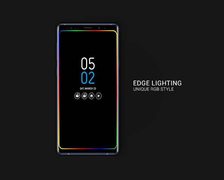 دانلود Always on AMOLED | Edge Lighting PRO 3.5.9 - برنامه فعال نگه داشتن نمایشگر اندروید!
