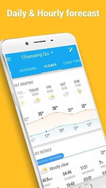 دانلود Amber Weather - Local Forecast 3.9.5 - ایستگاه هواشناسی دقیق و هوشمند اندروید + مود