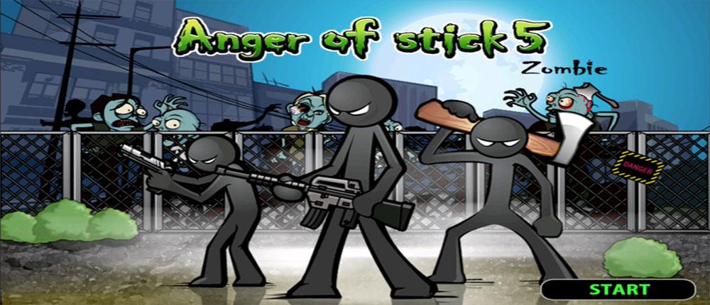 """دانلود Anger of Stick 5 - بازی اکشن""""خشم آدمک 5"""" اندروید + مود"""