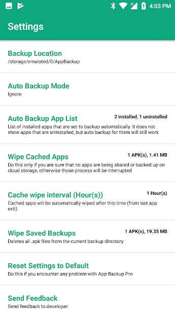 دانلود App Backup & Share Pro 11.2.0 - پشتیبان گیری قدرتمند برنامه ها اندروید