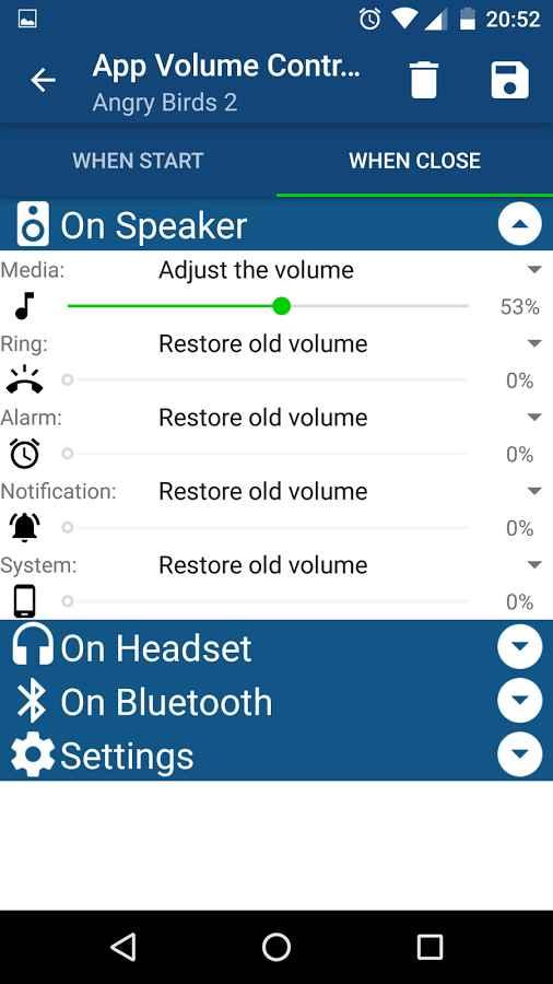 دانلود App Volume Control Pro 2.17 - کنترل هوشمند حجم صدا اندروید