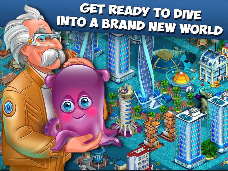 دانلود Aquapolis. Free city building 1.43.1 - بازی ساخت شهر آبی اندروید + مود
