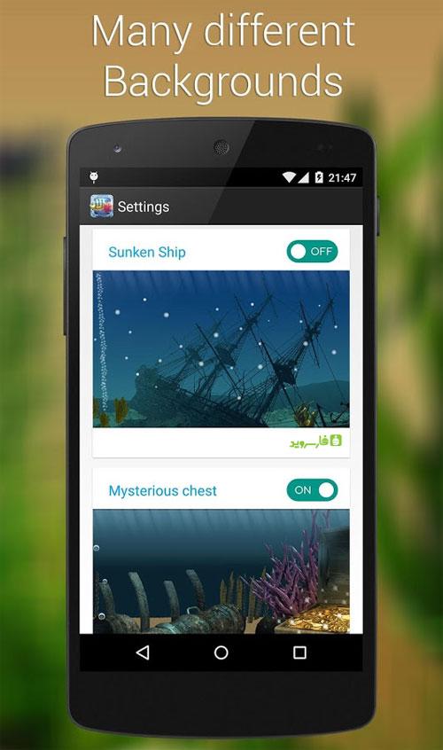 دانلود Aquarium 3D Live Wallpaper 1.7.0 - لایو والپیپر آکواریوم اندروید !
