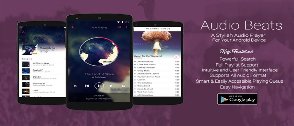 Audio Beats Music Player Full Cover دانلود Audio Beats – Music Player Full 2.5.3 – پلیر صوتی گرافیکی و همچنین قدرتمند آندروید