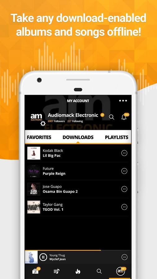 دانلود Audiomack Free Music Downloads Full 4.1.6 b172 - پلتفرم موسیقی آنلاین اندروید!