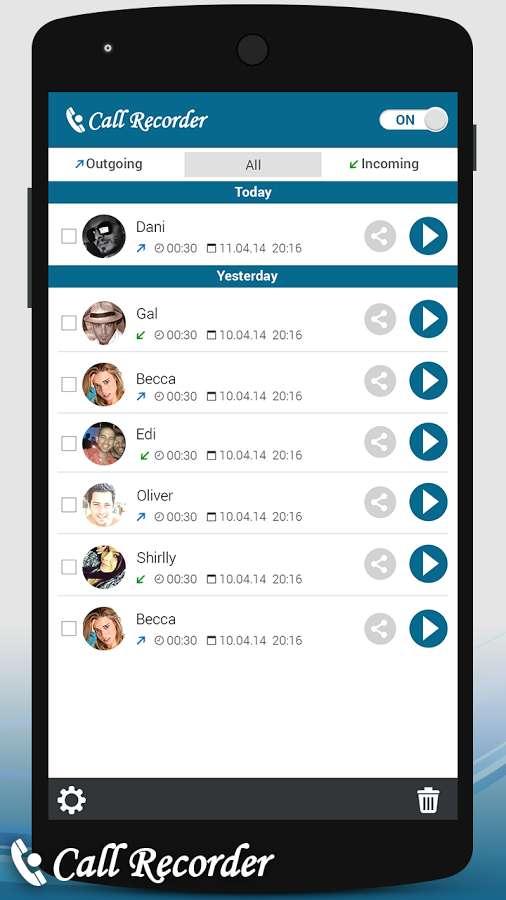 دانلود Auto Call Recorder premium 1.1.55 - برنامه ساده ضبط خودکار تماس اندروید
