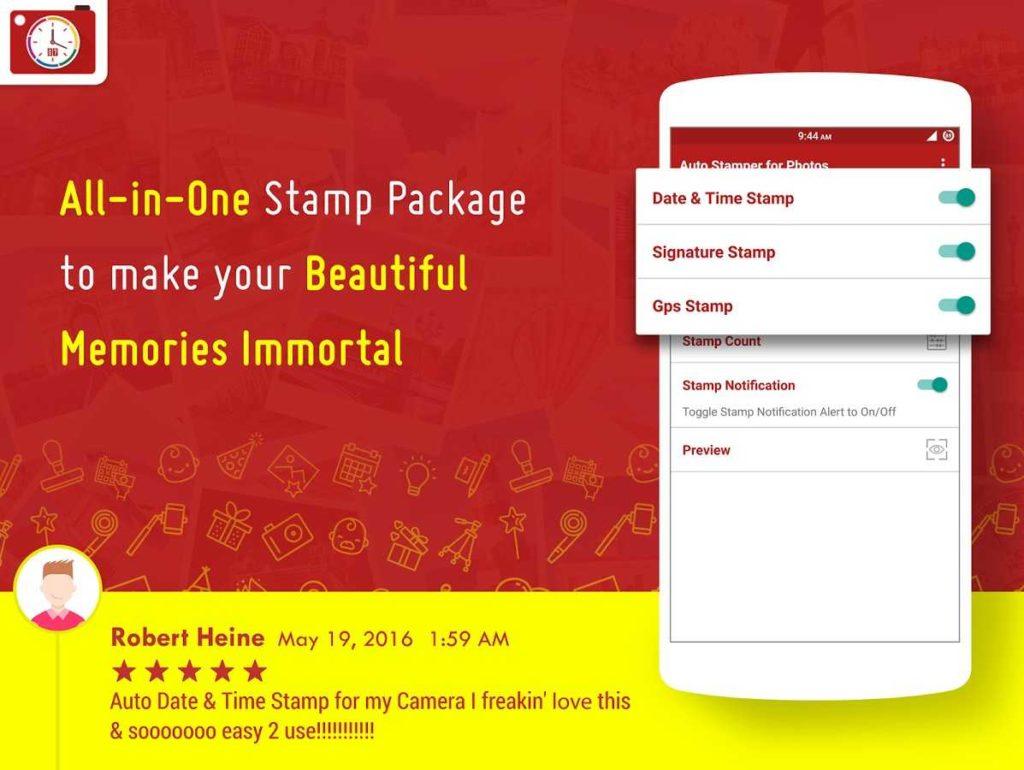 دانلود Auto Stamper: Stamp your Photo Pro 2.8.6 - افزودن خودکار تاریخ و ساعت روی تصاویر اندروید