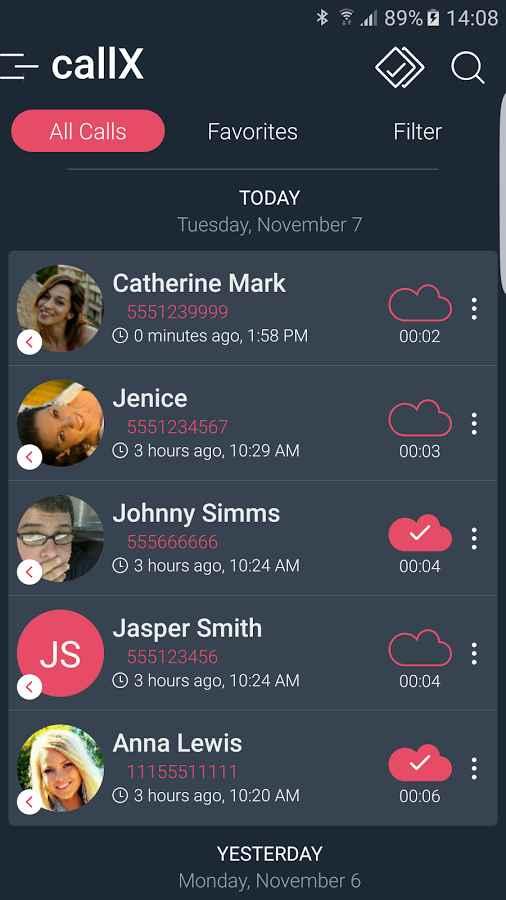 دانلود Automatic Call Recorder callX 5.8 - برنامه گرافیکی و پر امکانات ضبط مکالمات اندروید