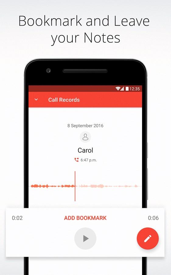 دانلود Automatic Call Recorder for Me 1.9 - برنامه ضبط ساده مکالمات اندروید