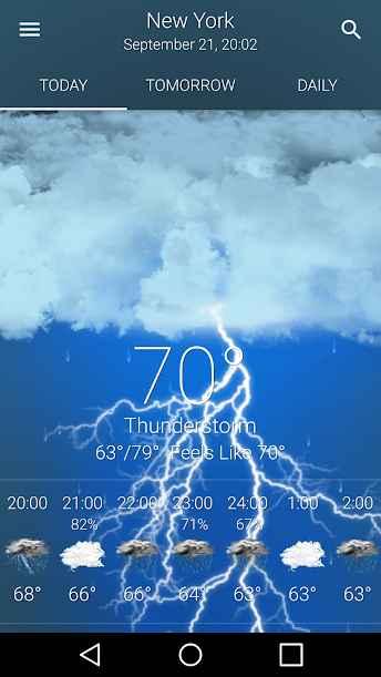 دانلود BVL Applications Weather Premium 14.7 - برنامه هواشناسی دقیق و هوشمند اندروید !