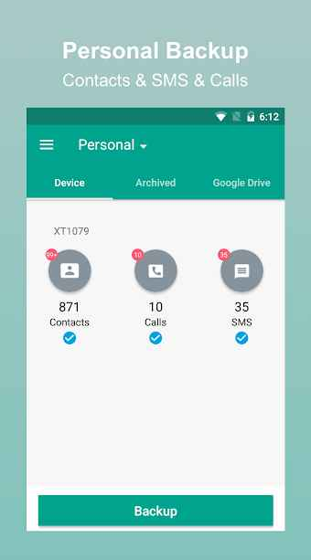 دانلود App / SMS / Contact - Backup & Restore 6.7.8 - برنامه پشتیبان گیری سریع و پر امکانات اپ، پیامک و مخاطبین اندروید !