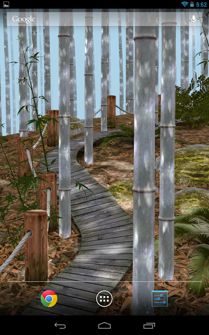 دانلود Bamboo Forest 3D 2.0 - لایو والپیپر سه بعدی جنگل اندروید!
