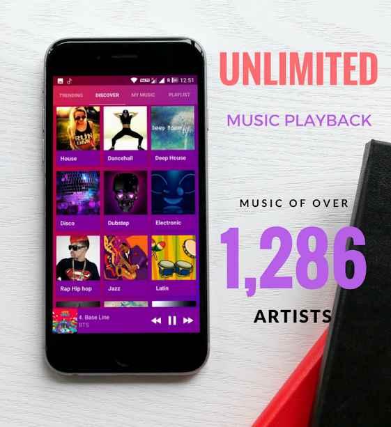 دانلود Bass Music VIP [Lifetime] 2.2 - برنامه استریم موزیک آنلاین اندروید