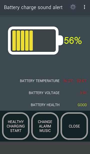 دانلود Battery charge sound alert 2.0.5 - آلارم پر شدن شارژ باتری اندروید