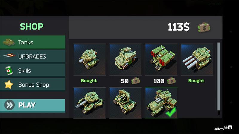 دانلود Block Tank Wars 2 2.3 - بازی عالی نبرد تانک ها اندروید + مود