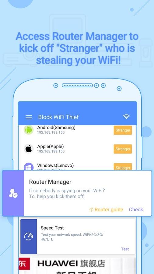 دانلود Block WiFi Thief Pro version - Ads Free! 1.0.10 - برنامه شناسایی افراد متصل شده به شبکه وای فای اندروید