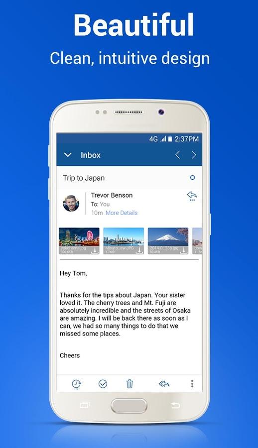 دانلود Blue Mail - Email Mailbox 1.9.5.9 - برنامه مدیریت ایمیل اندروید
