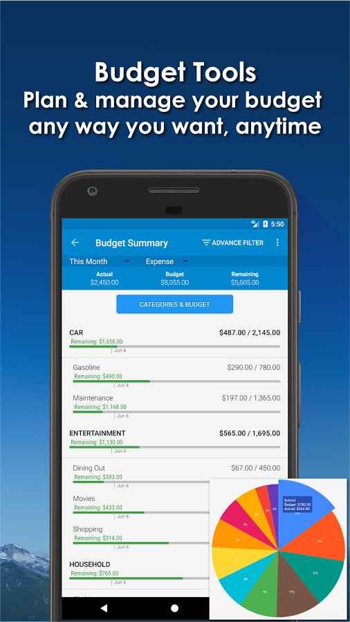 دانلود Bluecoins- Finance And Budget Full 6.0.3 - برنامه مدیریت منابع مالی شخصی اندروید