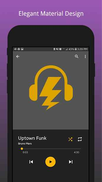 دانلود Bolt Music Plus - Mp3 Player, Audio Player 1.0 - موزیک پلیر قدرتمند، شیک و سریع اندروید !